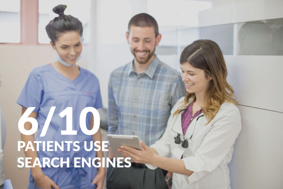 6/10 Patients use search engines