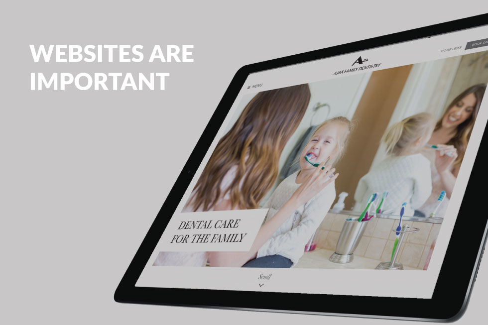 Websites are important for dental practices.